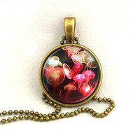 10% SALE - Necklace Jellyfish Swarm In Deep Sea Pendant Copper Necklaces Gift