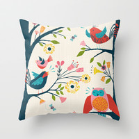 bird song Throw Pillow by bethan janine