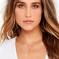 Point of Grace Gold Drop Necklace
