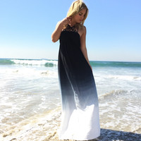 Crystal Cove Halter Ombre Maxi Dress