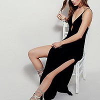 Free People Lights And Music Knit Maxi