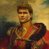 Patrick Swayze - replaceface Art Print by Replaceface