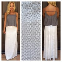 Butter Me Up Maxi Skirt - WHITE