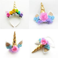 Unicorn Headband, Clip, or stretch hairband