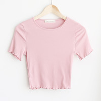 Ruby Ruffle Tee - More Colors