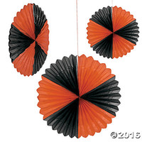 Giant Tissue Orange & Black Hanging Fan