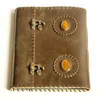 scrapbook/photo album/ leather journal/ leather sketchbook/ Keepsake book, leather Book, diary, travel journal,Notebook/ Leather/ Diary/