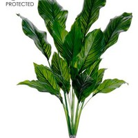 """UV Protected Plastic Spathiphyllum Plant in Green - 33"""" Tall"""