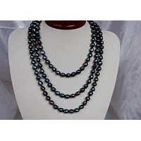 Peacock Freshwater Pearl Necklace PN076
