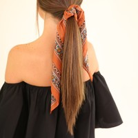 MY SONG HAIR SCARF - MARSALA FLORAL