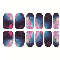 One Sheet Galaxy Night Sky Patterns DIY Nail Art Sticker