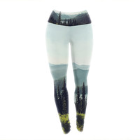 "Sylvia Cook ""Discover Your Northwest"" Landscape Yoga Leggings"