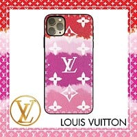 Onewel LV Case Louis Vuitton Clouds Gradient Colorful Monogram iphone shell iPhone 6 s 7 s 8 XS XR 11 Pro Max optional Rose red