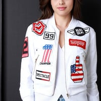 The Real Deal Racer Patch Bomber Jacket