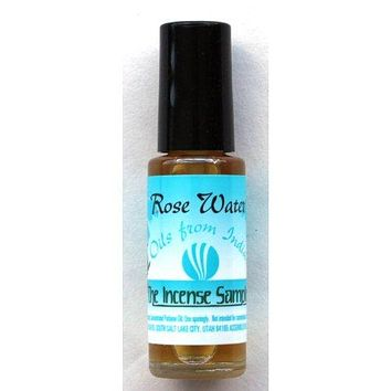 Rose Water Oil - Oils from India - 9.5 ml - Each bottle has an applicator wand
