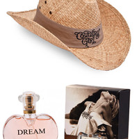 Women's Country Girl® Original Straw Hat Tank Band & Perfume Package