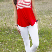 Lace American Flag Tank