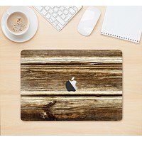 """The Dark Highlighted Old Wood Skin Kit for the 12"""" Apple MacBook (A1534)"""