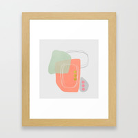 Modern minimal forms 49 Framed Art Print by naturalcolors