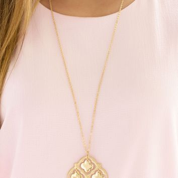 Moroccan Style Necklace in Gold | Monday Dress