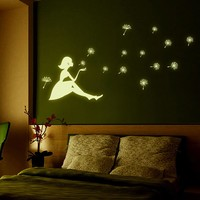 2017 New Girl Stickers Living Room Bedroom Wall Art Stickers Home Decor glow in the dark baby room decor kids room stencils hot