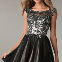 Short Open Back Black Dress