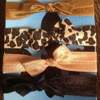 Natural hair tie bows from Dame Elegant