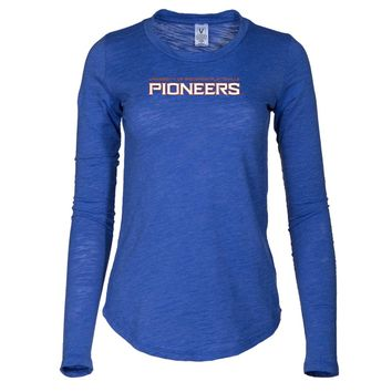 NCAA University of Wisconsin-Platteville - PPWPU037 Women's Long Sleeve Slub Tee Shirt