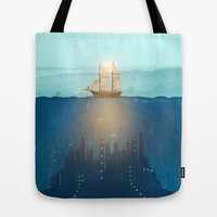 The Underwater City that was destroyed before the whale got to the ship. Tote Bag by Viviana Gonzalez   Society6