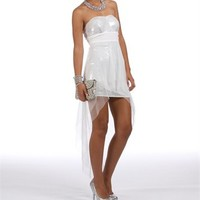 Pre-Order: Shalon-White Sequin Homecoming Dress