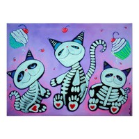 Kitty Cat Cupcakes Poster from Zazzle.com