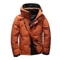 NEW 2018 winter brand down jacket Men Multiple pockets thicken  White Duck Down Jackets Down Parkas male coats clothing