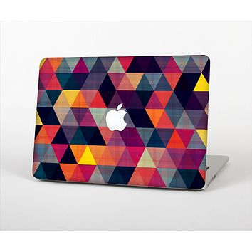 """The Vector Triangular Coral & Purple Pattern Skin Set for the Apple MacBook Pro 13"""" with Retina Display"""