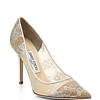 Jimmy Choo - Abel Lace Point-Toe Pumps - Saks Fifth Avenue Mobile