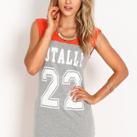 Varsity Graphic Tee Dress - LoveCulture