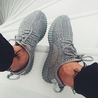 Adidas Women Yeezy Boost Sneakers Running Sports Shoes-2