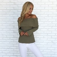 Sunday Snuggles Sweater in Olive