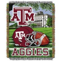 Texas A&M Aggies NCAA Woven Tapestry Throw (Home Field Advantage) (48x60)