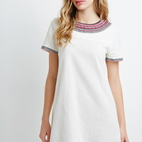 Embroidered Trim Shift Dress | Forever 21 - 2000132149