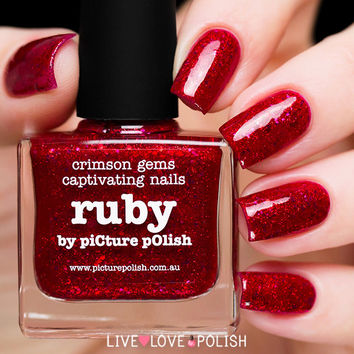Picture Polish Ruby Nail Polish