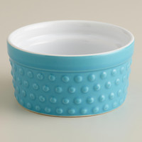 Blue Hobnail Ramekins, Set of 4