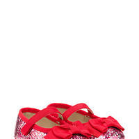 Kate Spade Babies' Glitter Mary Jane With Bow