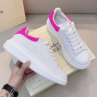 Alexander McQueen Platform Cushioning White Shoes Sneakers Shoes