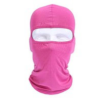 Motorcycle Face Mask Balaclava Full Face Masks For Motorcycle Helmet Summer Breathable Sports Masque Maske Moto Orange