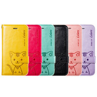 Cat Pattern Rotating Case Stand Cover for IPhone 6