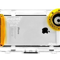 Seashell Waterproof Photo Housing 40m/130ft Rated Underwater Case for iPhone 5, 5s, 5c - Yellow