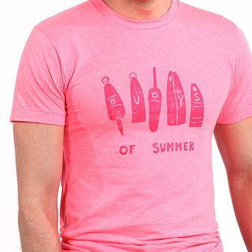 Provincetown Pink Buoys of Summer Tee Shirt Sizes M & L Available