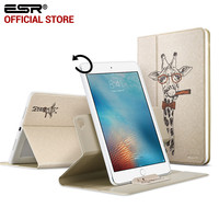 Case for Apple iPad Pro 9.7 inch,ESR 360 degree Rotating Folio Stand Smart Cover Case Cute Cartoon Pattern case for iPad Pro 9.7