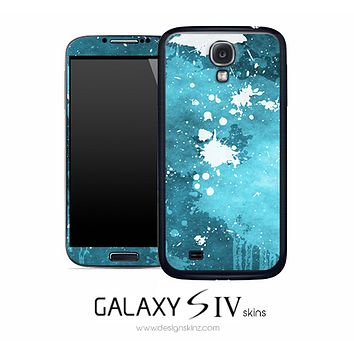 Blue Paint Splatter Skin for the Galaxy S4