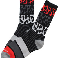 Striped Leopard Bred Socks